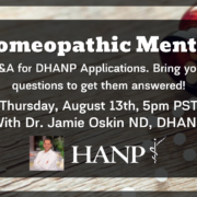 Homeopathic Mentor August 13 at 5pm PST